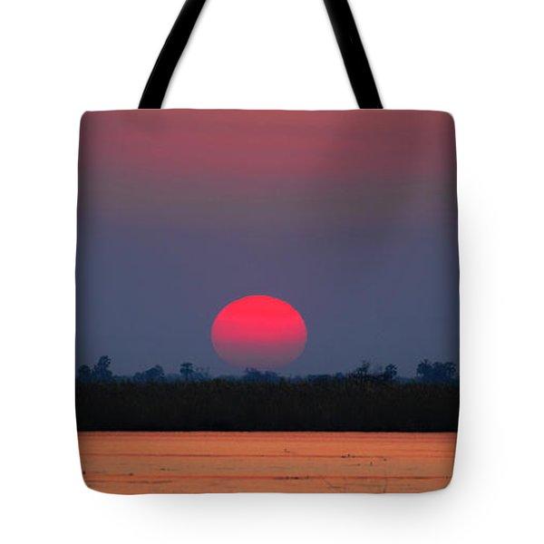 Sunset In Botswana Tote Bag