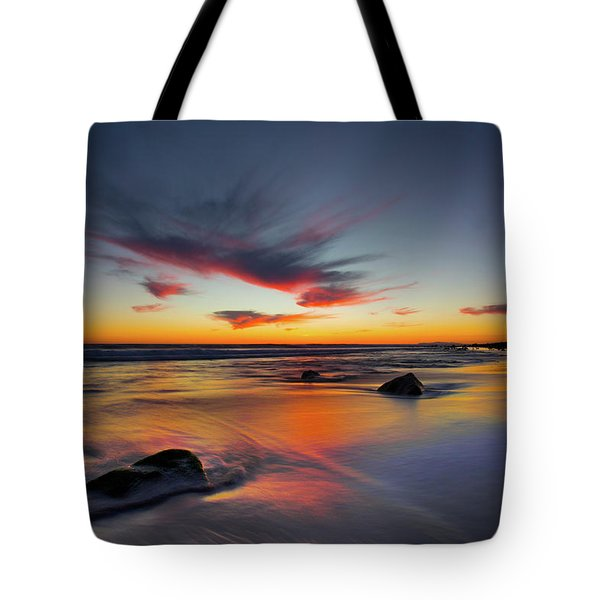 Sunset In Malibu Tote Bag
