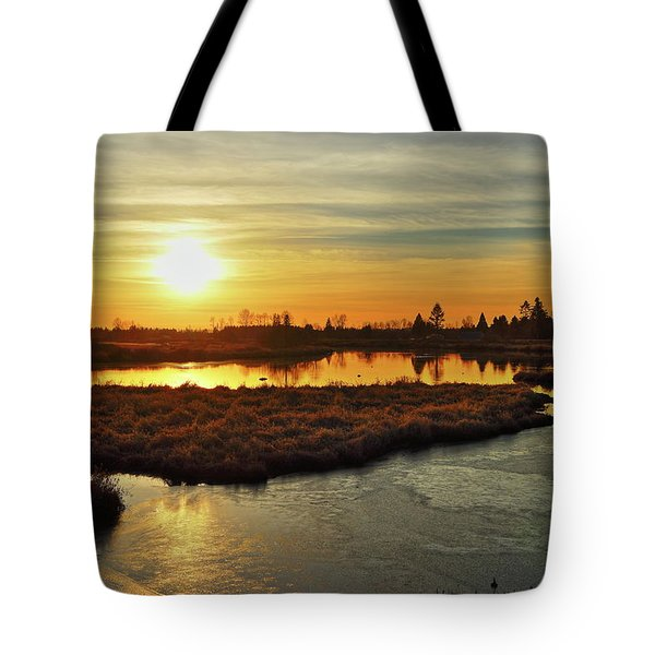 Sunset In Pitt Meadows Tote Bag