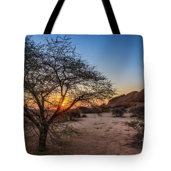 Sunset In Spitzkoppe, Namibia Tote Bag
