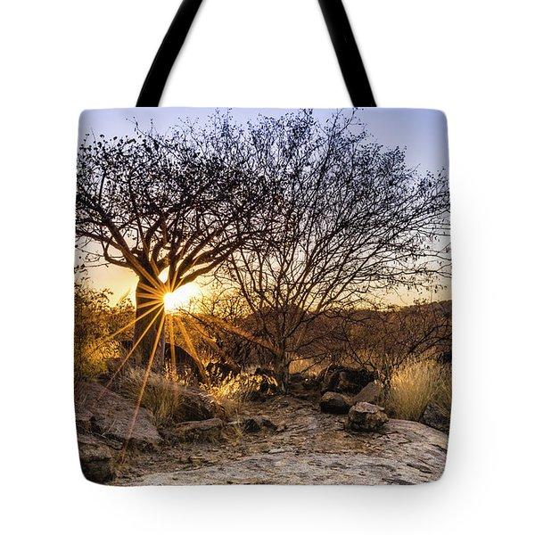 Sunset In The Erongo Bush Tote Bag