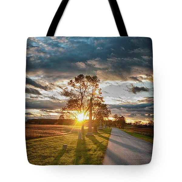 Sunset In The Tree Tote Bag