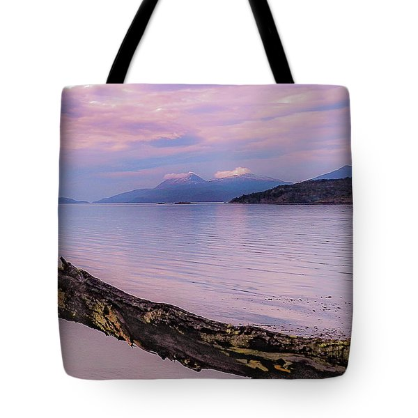 Sunset In Ushuaia Tote Bag