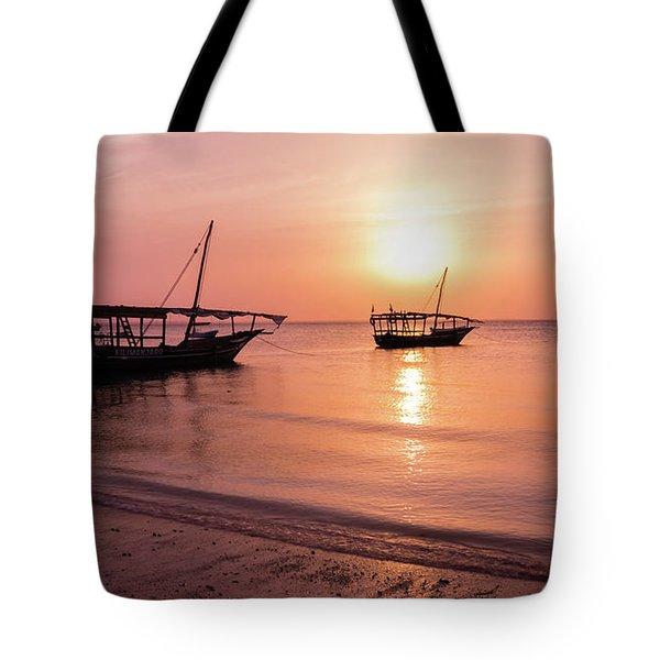 Sunset In Zanzibar Tote Bag