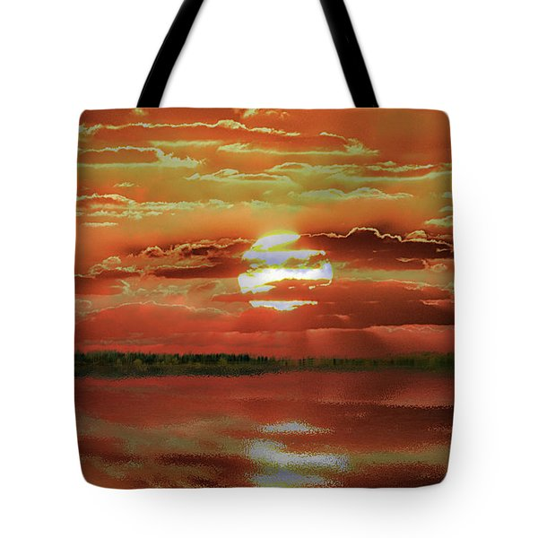 Tote Bag featuring the photograph Sunset Lake by Bill Swartwout Fine Art Photography