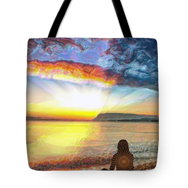 Sunset Meditation Tote Bag