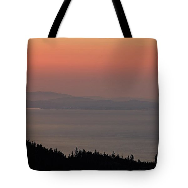 Sunset Of The Olympic Mountains Tote Bag
