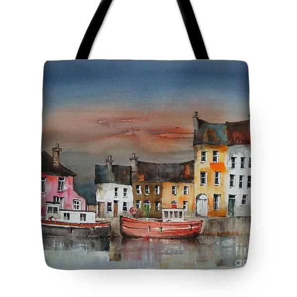Tote Bag featuring the painting Sunset On  Cloondra, Co. Longford by Val Byrne