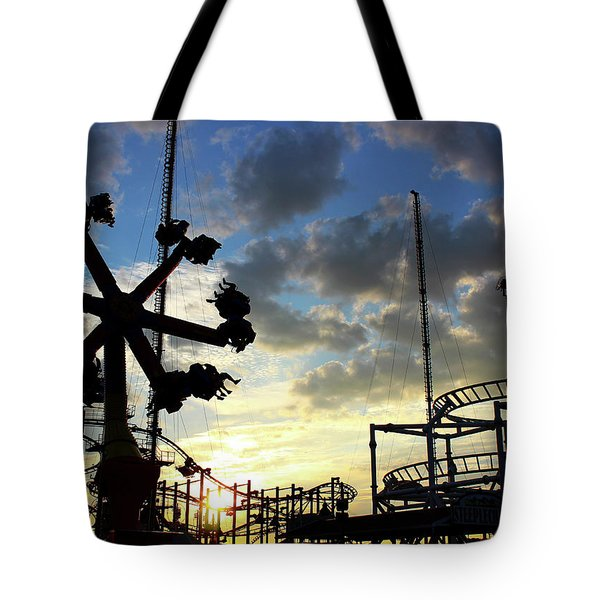 Sunset On Coney Island Tote Bag
