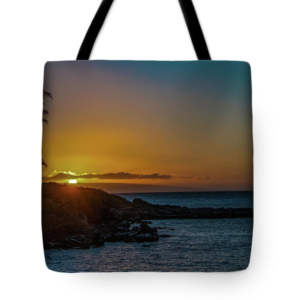 Sunset On Kapalua Tote Bag