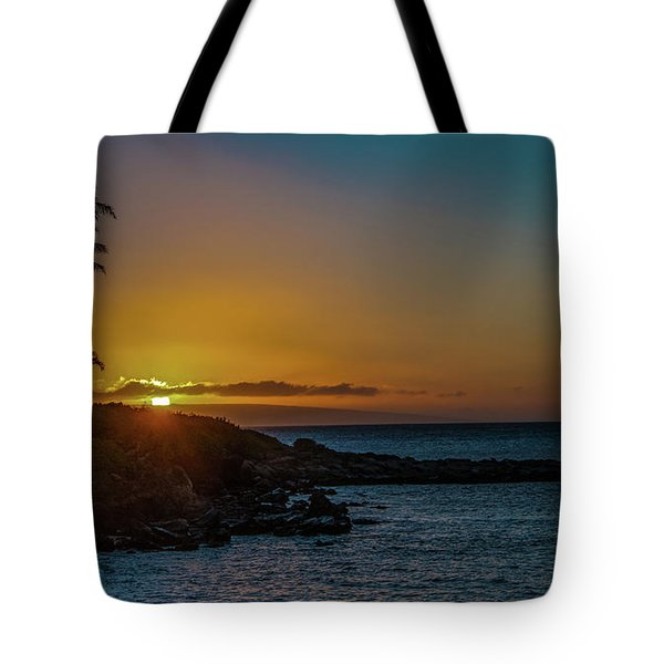 Sunset On Kapalua Tote Bag