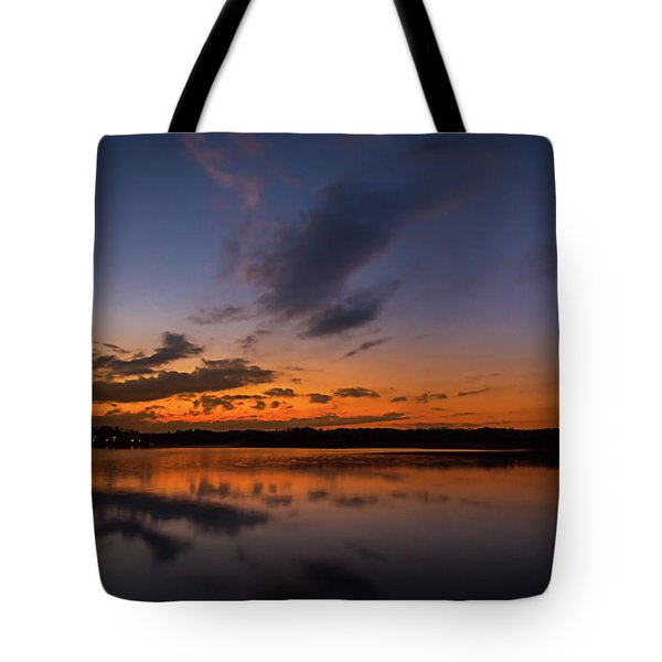 Tote Bag featuring the photograph Sunset On Lake Lanier by Bernd Laeschke