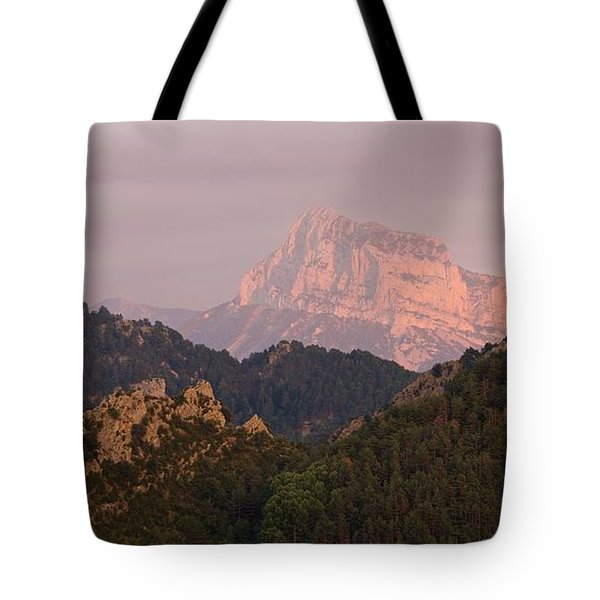 Tote Bag featuring the photograph Sunset On Pena Montanesa by Stephen Taylor
