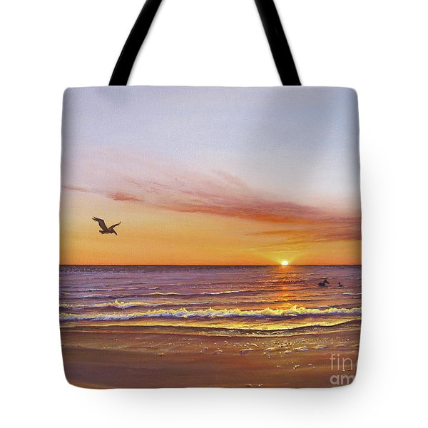 Sunset On The Gulf Tote Bag