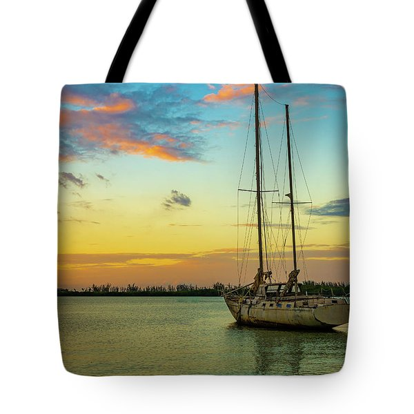 Sunset On The Lagoon Tote Bag