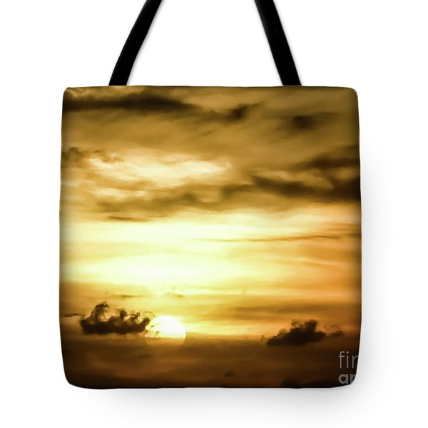 Sunset On The Pacific Ocean Tote Bag