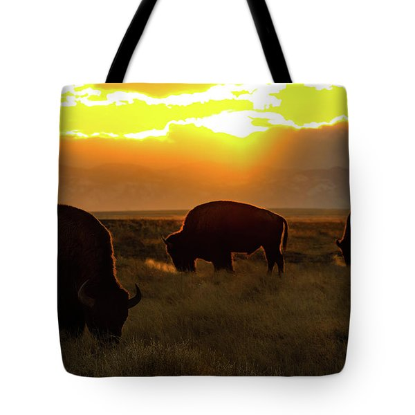 Sunset On The Plains Of Colorado Tote Bag