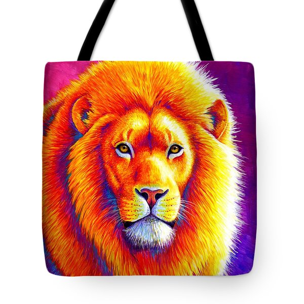 Sunset On The Savanna - African Lion Tote Bag