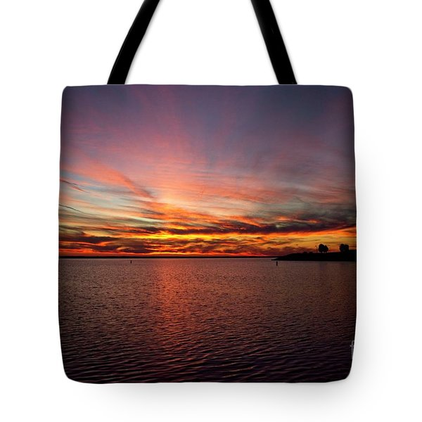 Sunset Over Canada Tote Bag
