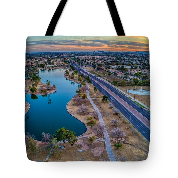 Sunset Over Chaparral  Tote Bag