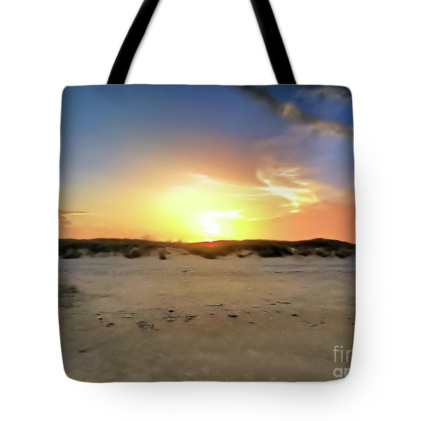 Sunset Over N Padre Island Beach Tote Bag