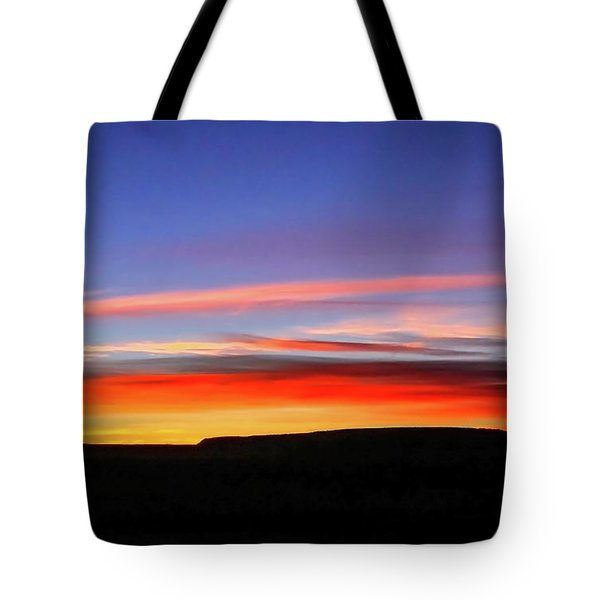 Sunset Over Navajo Lands Tote Bag