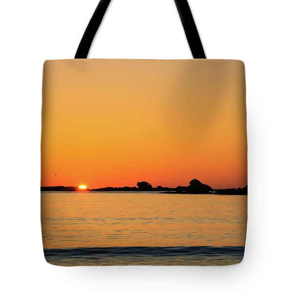 Sunset Over Sunset Bay, Oregon 4 Tote Bag