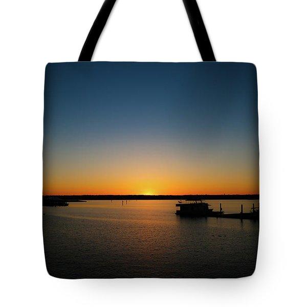 Sunset Over The Potomac Tote Bag