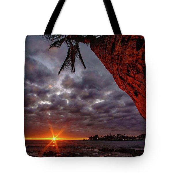 Sunset Palm Tote Bag