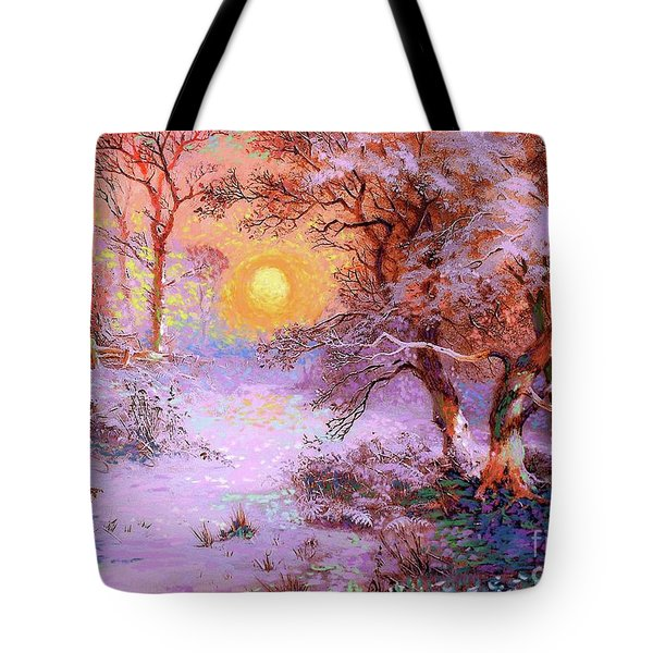 Sunset Snow Tote Bag