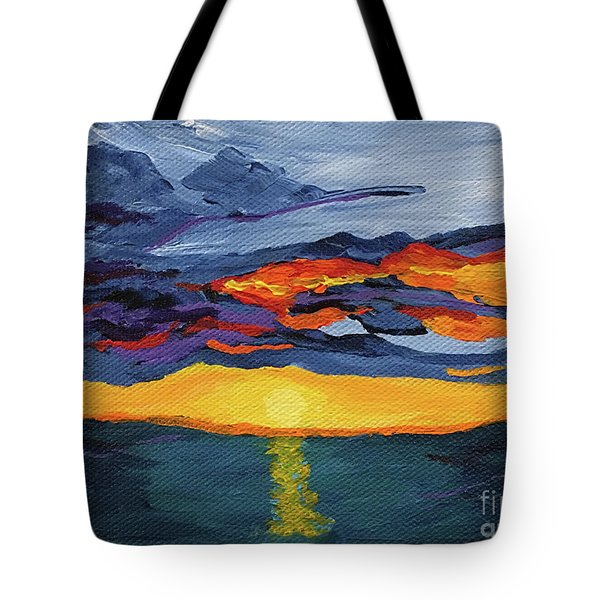 Sunset Streak Tote Bag