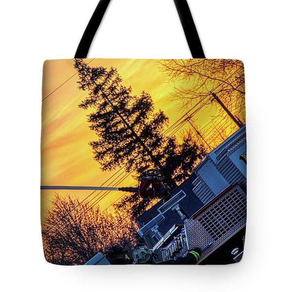 Sunset Streams Tote Bag
