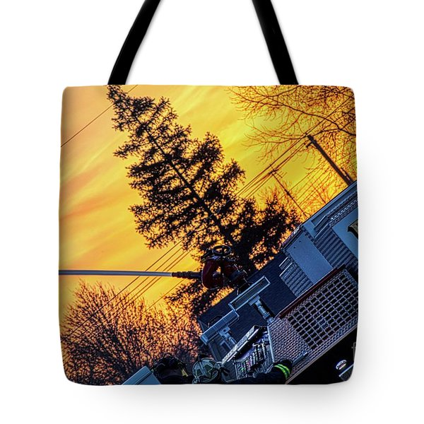 Sunset Streams Tote Bag