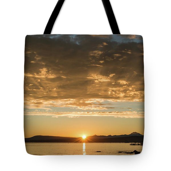 Sunset's Golden Rays Tote Bag
