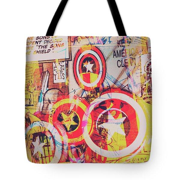 Super Hero Design Tote Bag