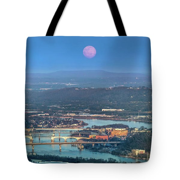 Super Moon Over Chattanooga Tote Bag