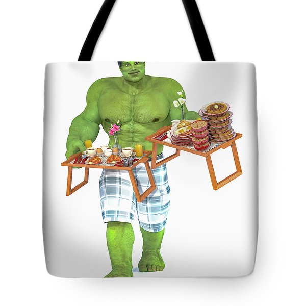 Super Morning Hero Breakfast Tote Bag