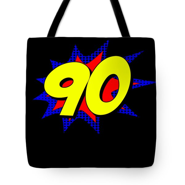 Superhero 90 Years Old Birthday Tote Bag