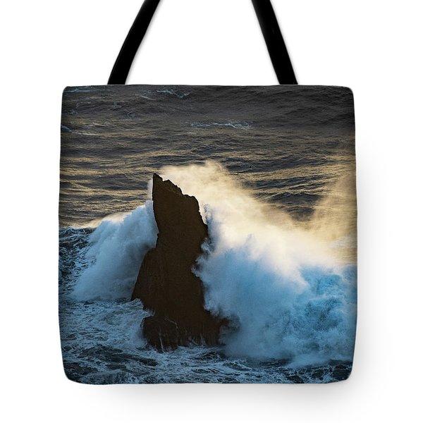 Surf At Sunset Tote Bag