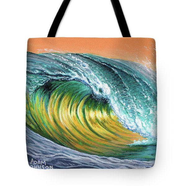 Surf Into The Sunset Tote Bag