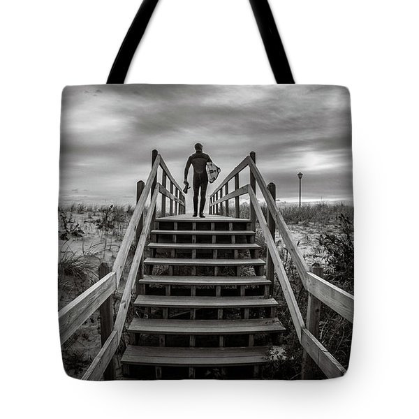 Tote Bag featuring the photograph Surfer by Steve Stanger