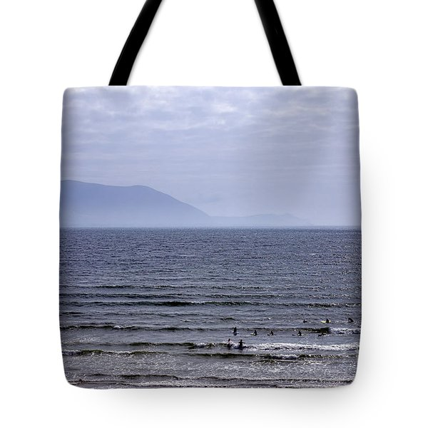 Surfers At Inch Beach Tote Bag