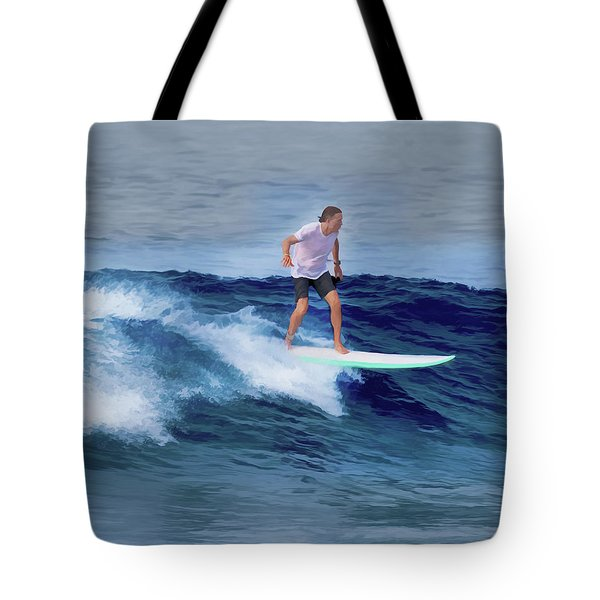 Surfing Andy Tote Bag