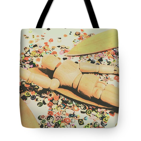 Surfing Table Cape Tote Bag