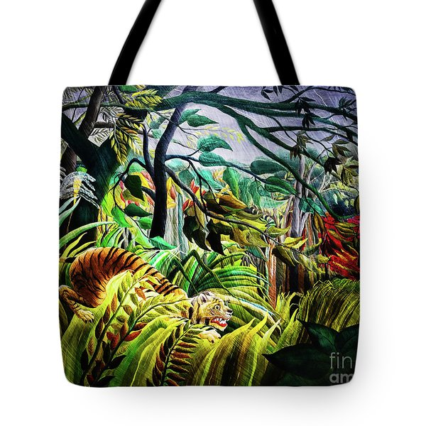Tiger In A Tropical Storm Tote Bag