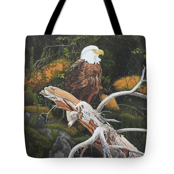 Tote Bag featuring the painting Surveying The Sea by Tammy Taylor