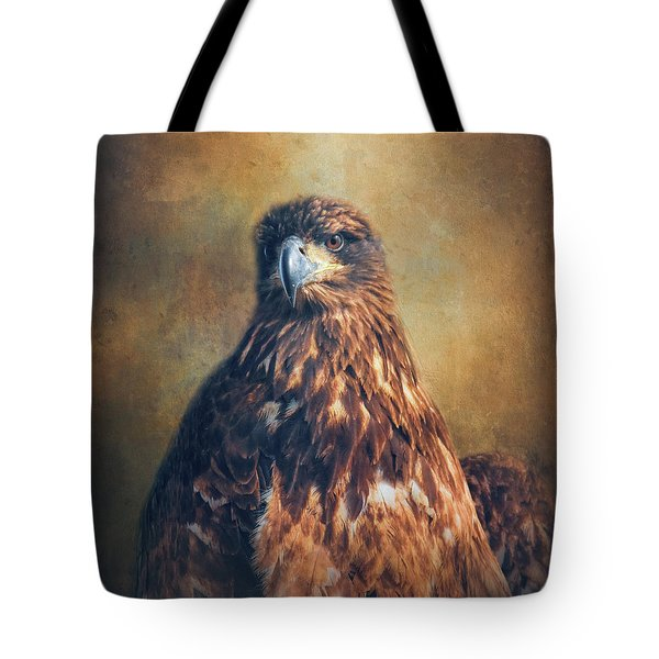 Tote Bag featuring the photograph Survivor - Juvenile Bald Eagle Art by Jai Johnson