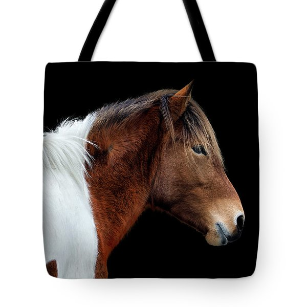 Tote Bag featuring the photograph Susi Sole Portrait On Assateague Island by Assateague Pony Photography