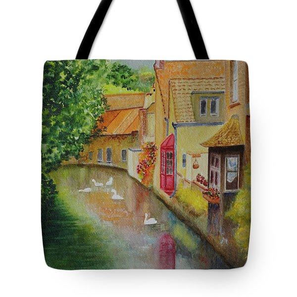 Swan Canal Tote Bag