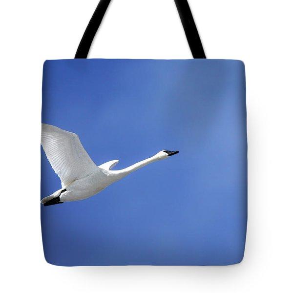 Swan On Blue Tote Bag